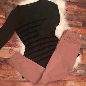 Cable & Gauge Charcoal Sweater Size Medium